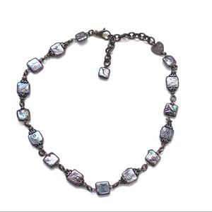 Alana Leigh sterling iridescent pearl necklace